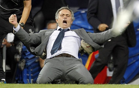 Jose Mourinho celebration