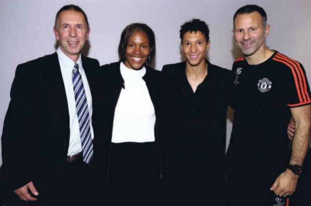 Ryan Giggs with latest signing