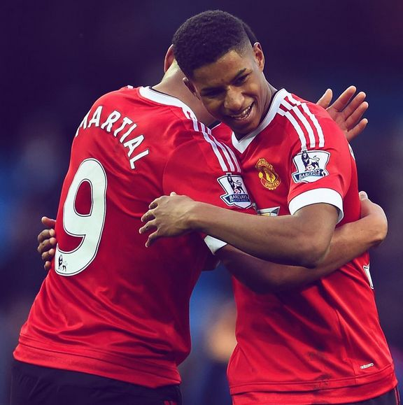 Marcus Rashford, Anthony Martial