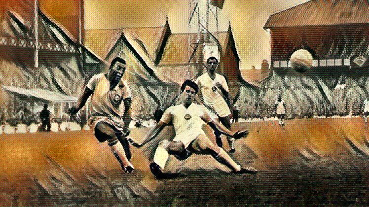 Pele Scores at Goodison